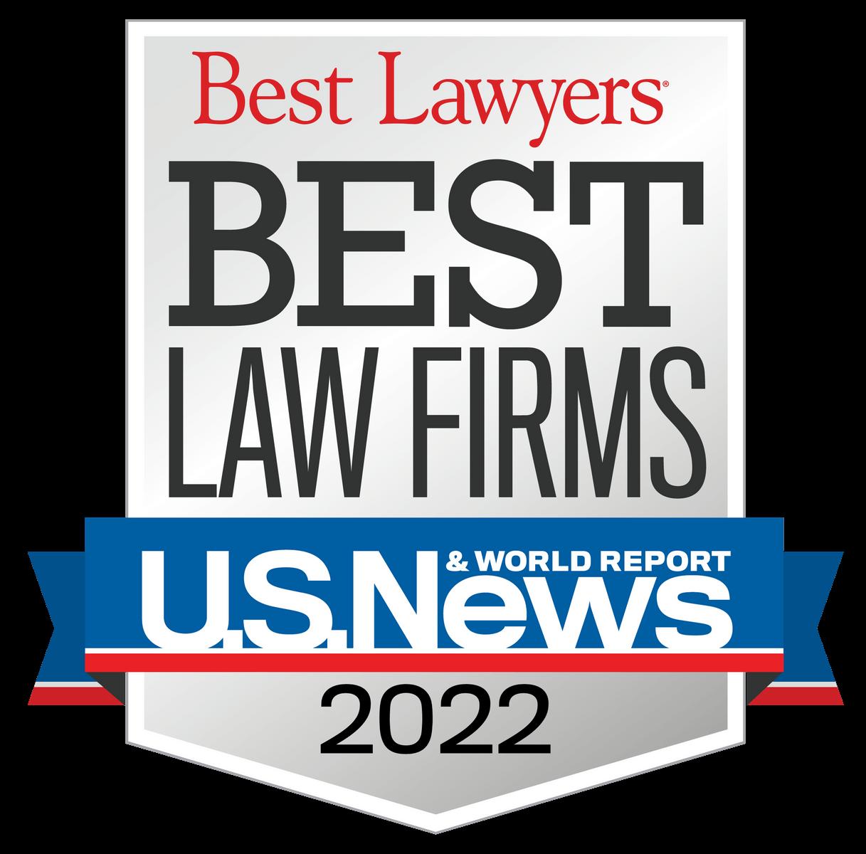 Award Badge - U.S.News Best Law Firms 2020